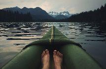 Kanu mit Füßen